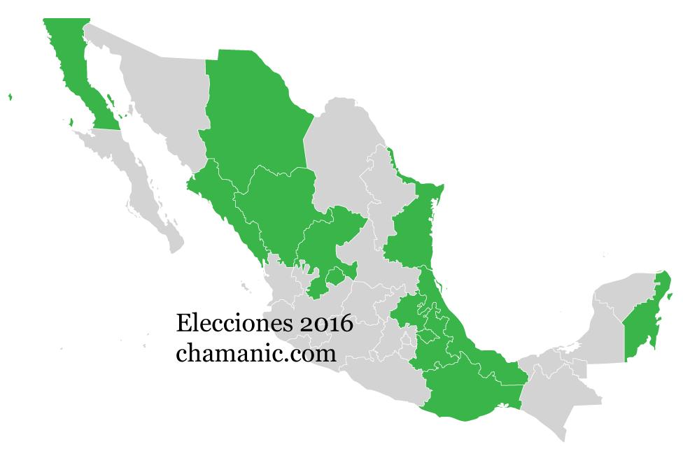 Mapa México Elecciones 2016