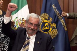 La Junta de Gobierno de la UNAM designó a Luis Graue como nuevo rector de la institución para el periodo 2015-2019. México DF